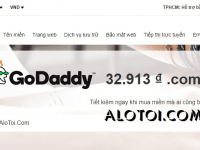 Khuyến mãi tên miền GoDaddy – Coupon giảm giá 32k/năm