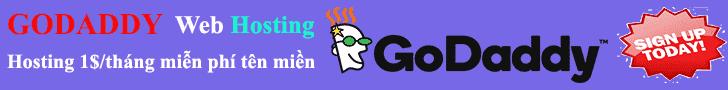 Hosting Godaddy 1$/tháng khuyến mãi miễn phí tên miền