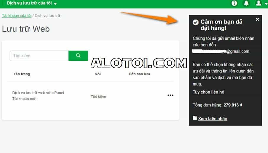đăng ký hosting sử dụng cPanel tại Godaddy